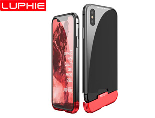 XR/XS For two-section Magnetic Aluminum Metal Frame Tempered Glass Back Cover Case