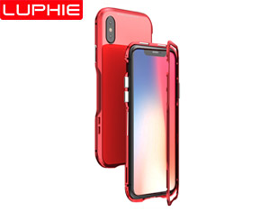 iphoneXs /Xs Max /XR MAGNETO Magnetic Aluminum Metal Frame Tempered Glass Back Cover Case