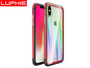 IPHONE 9   XS SXP LUPHIE AMBILIGHT TPU+ Aluminum & Glass Tempered Glass Back Cover Case