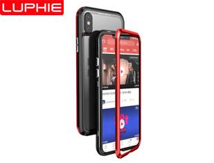 iphoneX BLADE SWORD MAGNETO  Magnetic Aluminum Metal Frame Tempered Glass Back Cover Case