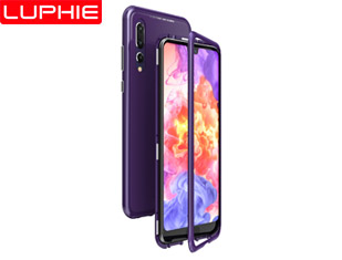 P20 Pro MAGNETO Original Brand-New Magnetic Aluminum Metal Frame Tempered Glass Back Cover Case