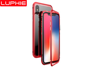 LUPHIE MAGNETO Original Brand-New Magnetic Aluminum Metal Frame Tempered Glass Back Cover Case